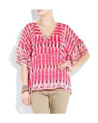 Antik Batik - Pink Julian Printed Silk-chiffon Top - Lyst