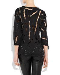 Balmain | Black Safety-pin Cotton T-shirt | Lyst