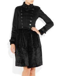 Burberry Prorsum | Black Wool And Silk-blend Lightweight Trench Coat | Lyst
