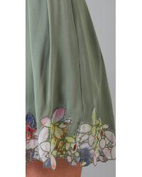 Catherine Malandrino | Green Pleated Skirt | Lyst