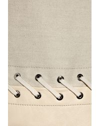 Chloé   Natural Leather and Linen-blend Dress   Lyst