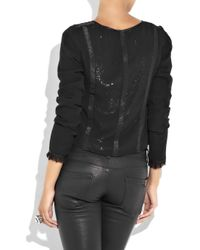Day Birger et Mikkelsen Black Micha Silk-chiffon Jacket