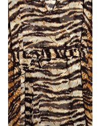 Dolce & Gabbana | Multicolor Tiger-print Silk-chiffon Kaftan | Lyst