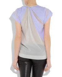Dion Lee Purple Stretch-silk Cutout Top