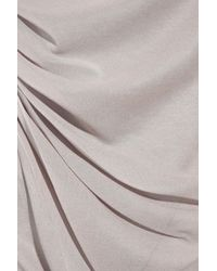 Donna Karan Gray Silk-georgette and Jersey Camisole