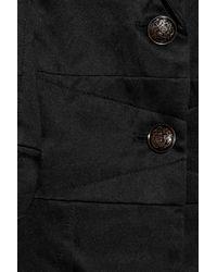 Elizabeth and James Black Washed Silk-blend Blazer