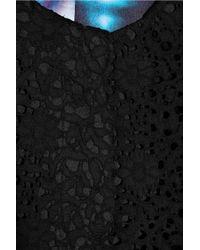 Erdem Black Morgan Lace and Satin-twill Coat