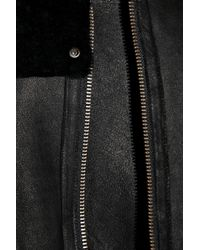 Helmut Lang Black Seam-detailed Shearling Jacket