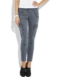 J Brand Blue Houlihan Low-rise Skinny Cargo Pants