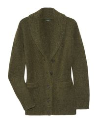 J.Crew | Green Robin Cashmere and Mohair Cardigan | Lyst