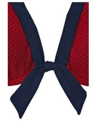 Jets by Jessika Allen Red Classique Polka-dot Halterneck Bikini Top