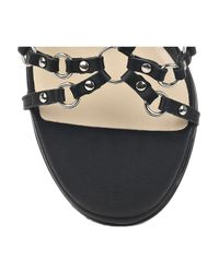 Jimmy Choo Black Liara Studded Leather Strappy Sandals