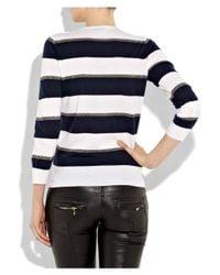 JOSEPH Blue Sailor Striped Cashmere Sweater