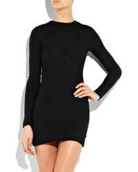 Kimberly Ovitz Black Camden Corset-embellished Velvet Dress