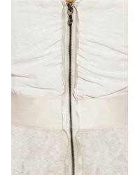 Lanvin White Silk-blend Bustier Dress