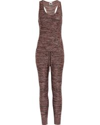 M Missoni | Red Cropped Metallic-knit Jumpsuit | Lyst