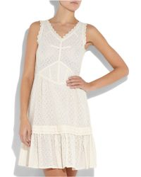 Marc By Marc Jacobs Natural Effie Cotton Broderie Anglaise Dress