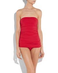 Melissa Odabash Red Bahamas Bandeau Swimsuit