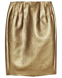 Boutique Moschino | Metallic Lamé Pencil Skirt | Lyst