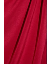 Notte by Marchesa Red Silk-crepe One-shoulder Column Dress