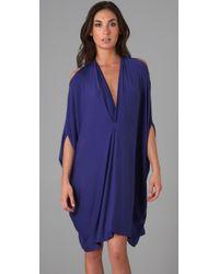 Rachel Pally Purple Gwyneth Caftan Dress