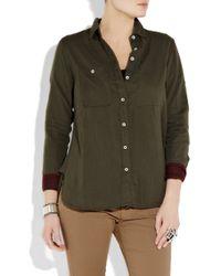 Rag & Bone | Tomboy Shirt - Army Green | Lyst
