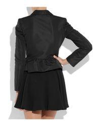 RED Valentino Black Frilled Twill Jacket