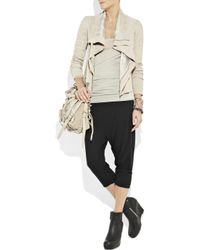 Rick Owens Lilies - Black Cropped Jersey Track Pants - Lyst