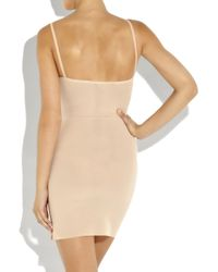 Roland Mouret Natural Mini Powermesh Slip Dress