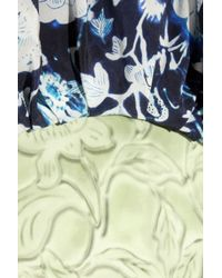 Rodarte - White Ming-print Silk-blend Organza and Crepe Dress - Lyst