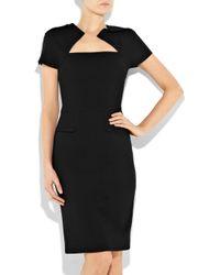 Roland Mouret Black Myrtha Wool-crepe Dress