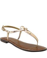 Sam Edelman | Pink Gigi - Rose Gold Thong Flat Sandal | Lyst