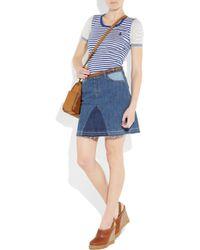 See By Chloé   Blue Patchwork Stretch-denim Skirt   Lyst