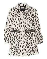 Sonia by Sonia Rykiel Black Dalmatian-print Cotton-drill Coat