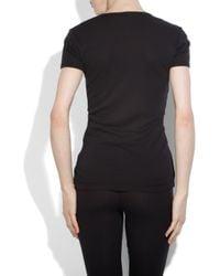 Splendid | Black Cotton and Modal-blend T-shirt | Lyst