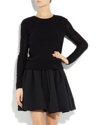 T By Alexander Wang Black Knitted Cotton Sweater