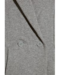 T By Alexander Wang | Gray Cutout Cotton-jersey Blazer | Lyst