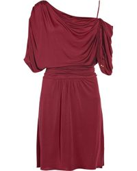 Temperley London Purple Jackelyne Draped Silk-jersey Dress