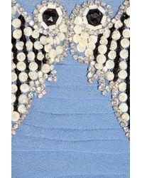 Temperley London | Blue Silvana Embellished Silk-georgette Gown | Lyst