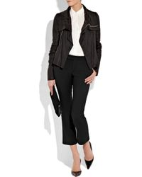 The Row Black Sterling Wool and Silk-blend Pants