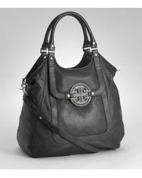 Tory Burch | Black Amanda Shopper | Lyst