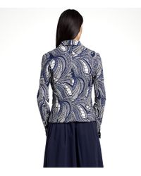 Tory Burch - Blue 'erica' Jacket - Lyst