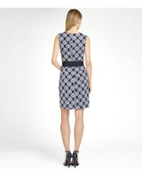 Tory Burch | Blue Nicola Printed Silk Jersey Dress | Lyst