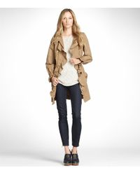 Tory Burch - Natural Ruffled Trench Coat - Lyst