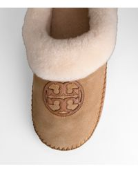Tory Burch - Natural Coley Suede Slipper - Lyst