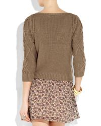 Vanessa Bruno Athé | Brown Knitted Cotton Sweater | Lyst