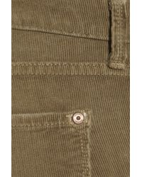 Vince Brown Mid-rise Corduroy Skinny Jeans