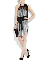 Vionnet Black Sequined Silk-chiffon Dress