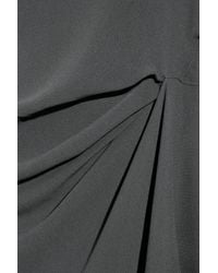 Vionnet | Gray Asymmetric Stretch Silk-crepe Dress | Lyst