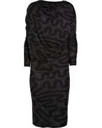 Vivienne Westwood Anglomania Black Draped Stretch-jersey Dress